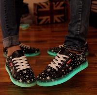 Fashion luminous Luminous shoes men sneakers shoes, casual shoes fluorescence