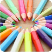 48pcs/lot Pencil style water-based gel pen mini multicolour unisex pen korea stationery/ Free shipping