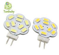 Tanbaby 10pcs x 9led SMD 5730 led light bulb G4 two pin led cabinet lamp AC/DC12V white or warm white 3W 250lm energy saving