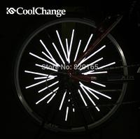 DIY Bike Riding Bicycle Wheel Rim Reflective Spoke Mountain Warning Light Tube 12pcs/lot