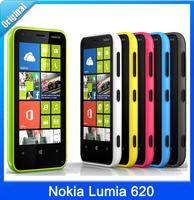 100% Original Unlocked Nokia Lumia 620 Dual core 3G WCDMA Bluetooth WiFi GPS Bluetooth 8GB ROM Mobile Phone Free Shipping Gifts
