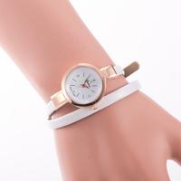 2015 Leather Strap Bracelet Dress Watch women Ladies Fashion Rhinestone Analog Quartz Wristwatches ladies watch clocks reloj