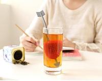 Cute Cupid Arrow Love Heart Tea Infuser Herb Leaf Filter Strainer Stirrer Teabag