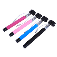 android portable extendable handheld monopod self timer self-pole for iphone samsung camera tripod holder best quality remote
