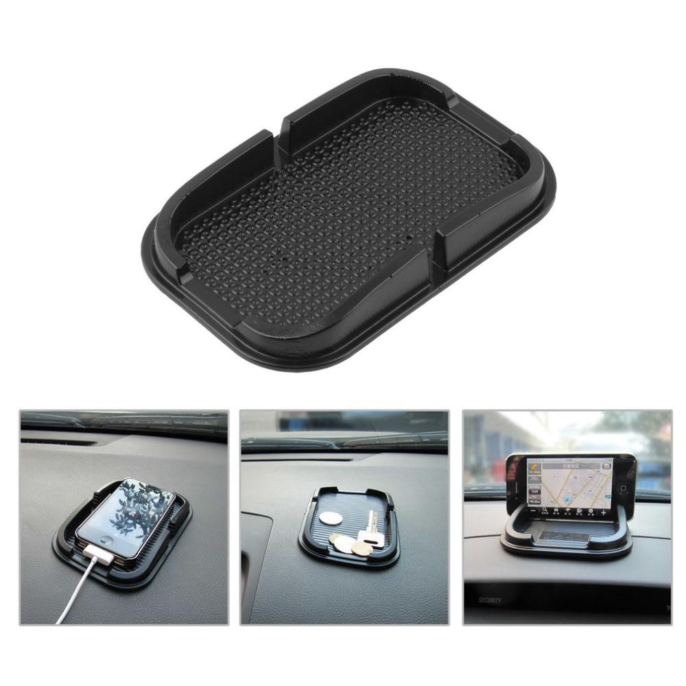 Universal Multi-functional car Anti Slip pad Rubber Mobile Sticky stick Dashboard Phone Shelf Antislip Mat For GPS MP3 Worldwide(China (Mainland))