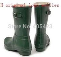 10 Color women men H Original Brand short style mid-calf Snow rain boots low heels waterproof welly boots rainboots water shoes