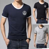 2015 New brand T Shirt Men T-Shirts Cotton Short Sleeve Tops Tees Men Letter Printed T-Shirts tops Hot Tee Shirts