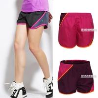 Sports shorts Women color block decoration shorts jogging pants casual women's at home beach pants yoga running