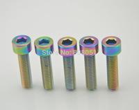Titanium Ti Bolt multicolour Bolts Screws M6 x 25mm rainbow color 5pcs/lot