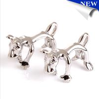 High quality Brass Novelty Tiger Cufflinks Animal Cuff links Free shipping
