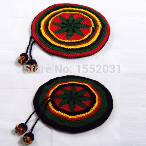 Handmade Jamaican Rasta hat with dreadlocks wigs Jameican hat tams fancy dress costumes Crochet rasta beanies Gorro EM-S16(China (Mainland))