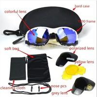 2014 NEW Brand OK Bicycle Jawbone Cycling Eyewear Glasses Sport Sunglasses UV400 3+1Polarized Lens Sporting Sun Glasses Goggles