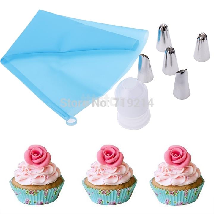Ferramentas bolo Fondant Cookie Cutter bolo que decora êmbolo cole Fondant Gum Sugarcraft Mold 6 pçs/set SV014740(China (Mainland))