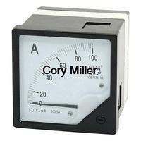 AC 0-100A Class 1.5 Analog Panel Meter Amperemeter White Black 6L2