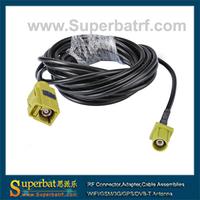 "Fakra Jack ""K"" straight to Fakra Plug ""K""straight pigtail cable RG174 300cm"