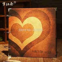 16 inch DIY Album Scrapbooking Wedding Photos Family Children Photos Wire Binding Valentine's Day Gift Wedding Memory Record
