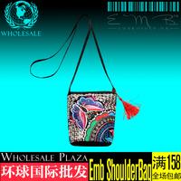 Global wholesale Yunnan folk style Shoulder Bag Messenger Bag Mini embroidery embroidery national bag bag ss2g