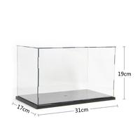 "Self-Assembly Acrylic Plastic PVC Display Box Showcase Protection  12.09x6.63x7.41"" figure model Doll Dollhouse Case"