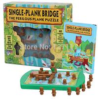 Kids puzzle game winnie cross River bridge   Logical thinking  maze task intellectual toys  40 quesions brinquedos meninos