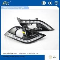 Factory COB Super bightness 12V  led light Top quality led car drl for Nissan Sunny Led Daytime Running Light