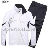 Male Sportswear Coat Jacket+Tracksuit Pants 2015 New Fashion Men's Casual Sports Suit Brand Outdoor Jogging Sweatshirts Sets Man