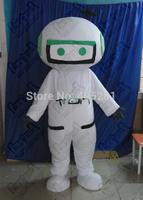 white robot mascot costumes cartoon computer costumes