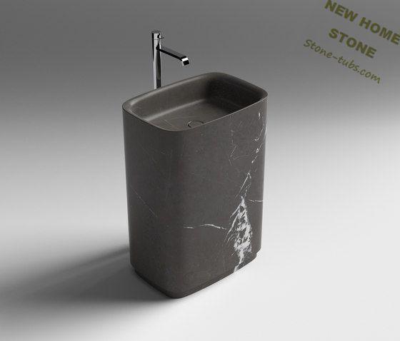 Escena Del Baño One Piece:Modern Marble Bathroom Pedestal Sink