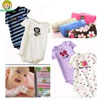Avivababy Baby Boys & girls Bodysuit Short Sleeve Fashion Baby Clothing 5pcs Bodysuits Ropas Para Bebe Newborn Bebe Body Macacao