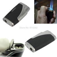 Lighter Windproof Jet Flame Refillable Butane Gas Cigarette Cigar Black