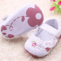 Infant Toddler Baby Girl First Walkers Floral Lace Prewalker Shoes Soft Sole Crib Shoes For Freeshipping