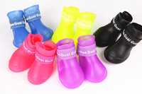Newest Waterproof and Skid Resistance Rain Boot for Pets Dog Soft PVC Pet boots