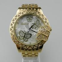 luxury women watch geneva crystal stone quartz watches geneva butterfly fashion dress wrist ladies wristwatch watches for women