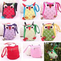 Retro Lucky Owl Shape Cute Portable Mini Animal Zipper Bag Change Coin Purse Wallet 2015 New Chinese Ornament Gift for Woman Kid