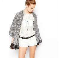 New Fashion Women's Vintage Flower Print Chiffon Blouse Shirt Women Loose Chiffon Kimono Cardigan yw15010