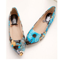 New arrival 2015 spring flower shoes female fashion flats women casual sweet flat women spring hotsale shoes45