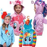 Girl's Hoodie cardigan baby childrens clothing sport baby hooded childrens girl's top shirts Hooded FF880
