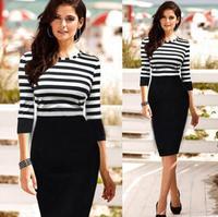 1 PC Women Lady Slim Casual Striped Bodycon Party Clubwear Pencil Dress  76