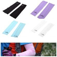 Anti-sunburn Outdoor Sport Fishing Cycling Sleeves Arm Warmers Oversleeves UV Protection Unisex White Black Blue Purple(China (Mainland))