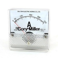 AC 0-250A Fine Tuning Dial Panel Ampere Meter BP-80