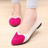 Free shipping new fashion summer casual round comfort women love shoes ballerina flat shoes 3 colors