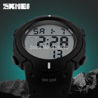 Free shipping 2015 fashion casual Men's watch Waterproof Luminous Outdoor Motion Black Electronic Wristwatches---sedp