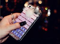 DIY Handmade Mosaic Diamond case For iphone 6 4.7inch/6 plus 5.5inch Free shipping