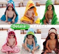 2015 new cartoon animal baby Towel hooded bathrobe bath towels terry bathing robe Animal modeling Baby Bathrobe Cartoon infant