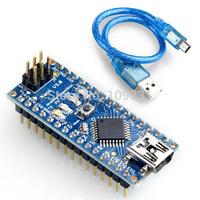 Arduino compatible Nano V3.0 ATmega328 Mini USB Microcontroller Board Cable T1248 P