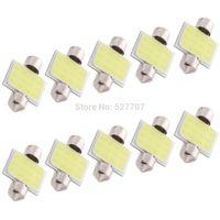 10x White 31MM COB 3W Festoon Dome Interior Car LED Light Lamp Bulb DC 12V 250LM