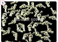 50pcs/lot Fancy Gold Gun Deco Metal Charms Metal Deco Charms Nail Art