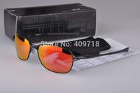 New Designer Sunglasses Men's/Women's Brand Metal C wire OO4046-05 Black Sunglass Fire Iridium Black Logo Polarized Box