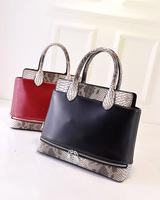 Luxury Leather Women Snake Bag Designer Brand Patchwork Handbag Zipper Blue Clutch High Quality Women Messenger Bag 6027