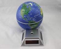 "Glovion Eco Solar Powered Auto Spinning Rotary World Globes Self Rotating Globe Model (5.5"" inch &Dark Blue World Map)"