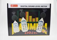 Digital sound level meter 30 ~ 130 dBA vibración y ruido tester portable noise instrumento de medición con carry case